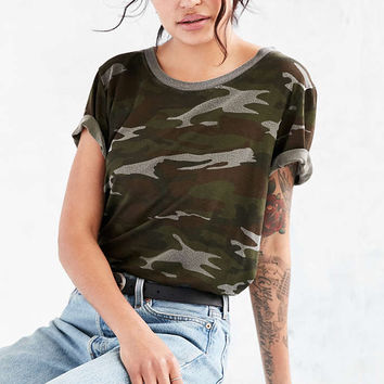 Truly Madly Deeply Marnie Camo Tee - Urban Outfitters