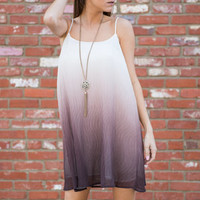 Word Around Town Dress, Sepia