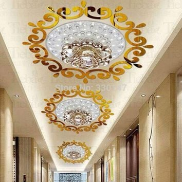 BIG Top ceilling mirror wall sticker , top lighting the ceiling Chandelier around decorative mirror frame sticker