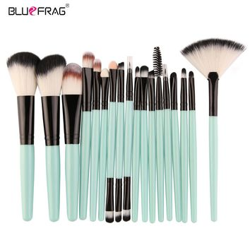 18 /15Pcs Full Professional Makeup Kit Set Makeup Brushes Powder Foundation Blush Eye Shadow Blending Make Up Brush Beauty Tools