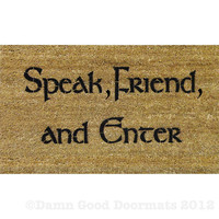 LOTR Tolkien - Speak Friend and Enter- doormat