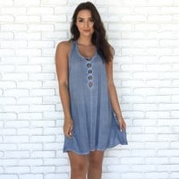 Smooth Sailing Chambray Dress