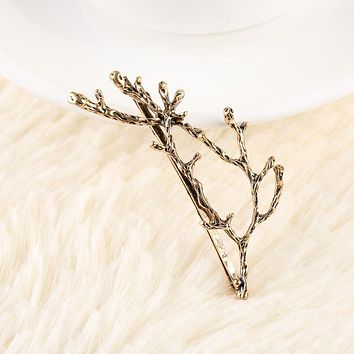 1 pair of Christmas gifts fashion vintage metal tree branches hair clips for women hair band accessories