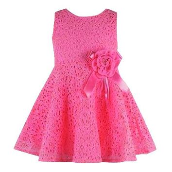 Fashion Summer Colorful Mini Tutu Dress Lace Dress Floral Clothes Princess Baby Dress Summer For Baby Dresses Girl