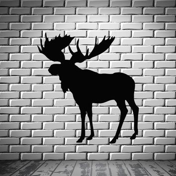 Elk Deer Animal Forest Hunting  Mural  Wall Art Decor Vinyl Sticker Unique Gift z674