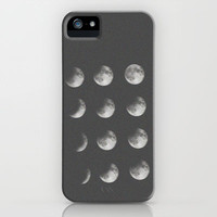 phases of the moon iPhone & iPod Case by Sara Eshak