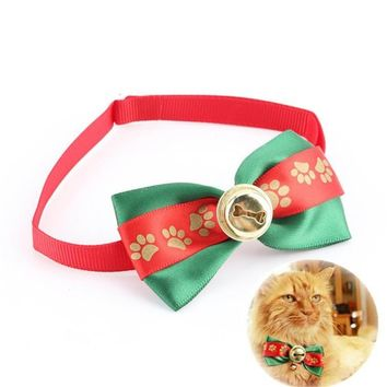 Dog Bowties Pet Ties For Wedding Party Christmas Festival Adjustable Cute Dog Bow Tie Collar With Bell