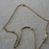 Vintage Park Lane Signed Gold Tone Necklace