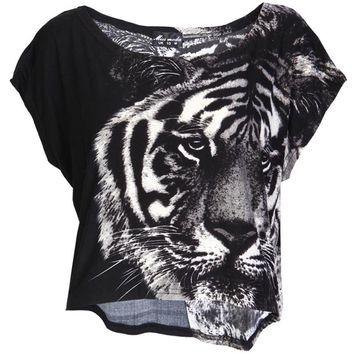 Tiger Print Crop Top - Womens Clothing Sale, Womens Fashion, Cheap Clothes Online | Miss Rebel