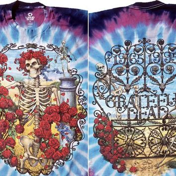 Grateful Dead 30th Anniversary Tie Dye LONG Sleeve Shirt Size 2XL plus size