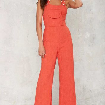 Vintage Ring a Bell Wide-Leg Overalls