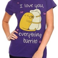 Adventure Time Love Burrito Girls T-Shirt Plus Size 3XL