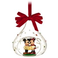 Mickey and Minnie Mouse Dated Glass Decoration | Disney Store