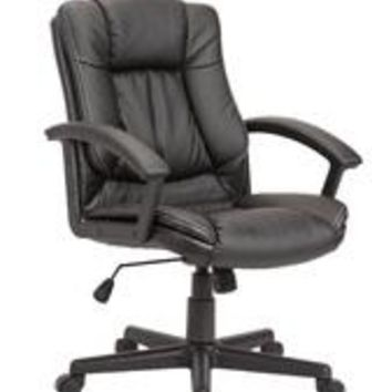 Adjustable Swivel Office Chair Nylon Base, Black