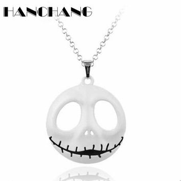 Personality Skull Head Skellington Necklace The Nightmare Before Christmas Pumpkin King Santa Jack Pendents&Necklace Accessories