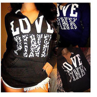 LOVE PINK Tops Hoodies [9609075983]