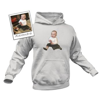 Custom Illustrated Baby Hoodie by Tote Tails