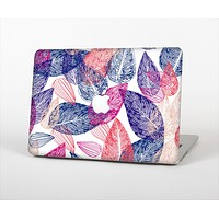 "The Seamless Pink & Blue Color Leaves Skin Set for the Apple MacBook Pro 15"" with Retina Display"