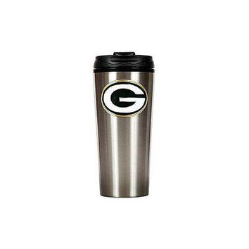 Green Bay Packers Primary Logo 16 oz Stainless Steel Travel Mug Tumbler Cup
