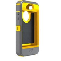 Otterbox Defender Series Hybrid Case & Holster for iPhone 4 & 4S  - Retail Packaging - Sun Yellow/G