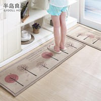 50X80+50X160CM/Set Linen Kitchen Mat Home Entrance/Hallway Doormat Anti-Slip Bathroom Carpet Absorb Water Kitchen Carpet/Rug