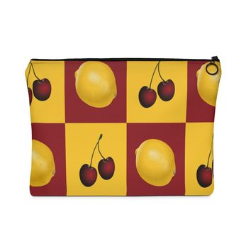 The Fruity Cherry Carry All Pouch - Flat