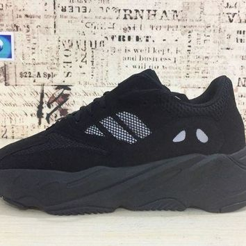 Jacklish Adidas Yeezy Wave Runner 700 Triple Black Boost For Sale