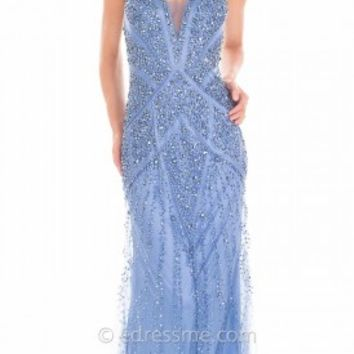 Cascading Shimmering Halter Prom Gown by Atria