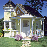 Victorian Playhouse - Children's Patio Furniture and Playhouses - Outdoor Furniture - Furniture - PoshLiving