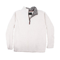 Pre-Order Frosty Tipped Pile 1/2 Zip Pullover in Ivory by True Grit
