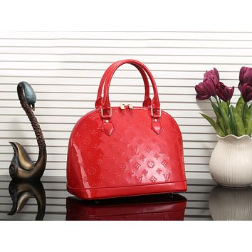 Louis Vuitton LV Newest Popular Women Shopping Bag Leather Satchel Handbag Shell Type Bag Red I-MYJSY-BB