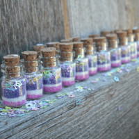 Fairy Dust Jars set of 20 Pink and Purple by thesetinytreasures