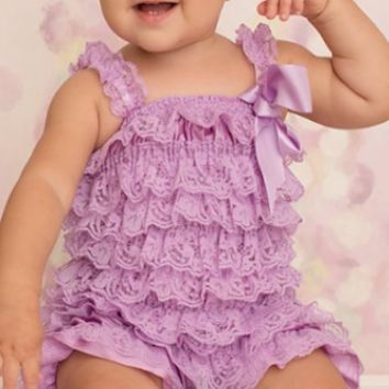 Lilac Lace Baby Romper - CPD001L