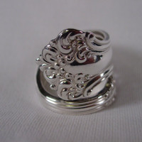 A Spoon Rings Plus Gorgeous Spoon Ring Size 10 Handmade Hippie Rings  t112