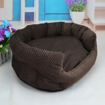 New ! Dog Bed Pet Pad Mat Puppy Cushion Kennel for Dog/Cat Blanket Plush Nest Cat Bed Cat Pet Bed With Removable Pillow