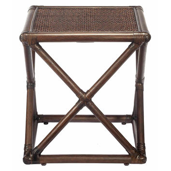 Vivienne Rattan Bunching Table, Clove, Standard Side Tables