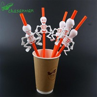5 Pcs Halloween Decorations for Home Halloween Pumpkin Straws/Ghost Straws Halloween Decoration Kids Birthday Halloween Party.Q