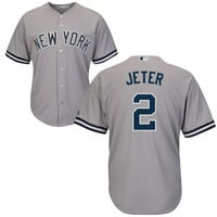New York Yankees Derek Jeter #2 Home Throwback Jersey
