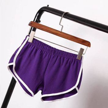 Summer Street Fashion Shorts Women Elastic Waist Short Pants Women All-match Loose Solid Soft Cotton Casual Plus Size Short