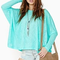 Petals Dolman Top - Mint
