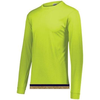 Lime Performance Long Sleeve T-shirt With Fringes