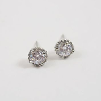 BKE Rhinestone Earring - Women's Accessories in Silver | Buckle