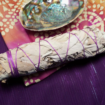 "XL SAGE SMUDGE Bundle - Large California White Sage Smudge Stick Wand 7"" to 8"" long - Smudging Clear Negative Energy in Your Home"