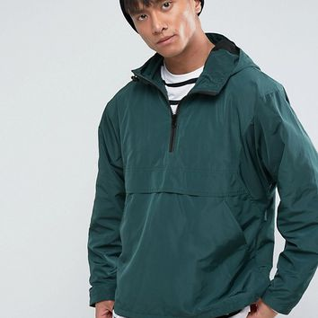 ASOS Overhead Windbreaker in Bottle Green at asos.com