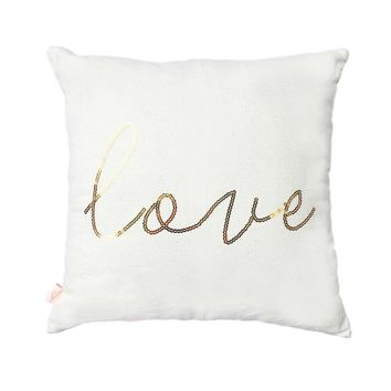 LOVE SEQUIN PILLOW COVE