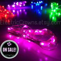 5 LED Fairy lights ONE FREE! String Lights Wedding Centerpiece Red Pink Purple Blue Green Festival Centrepiece Glow Party Mini batteries