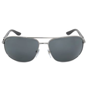 Bvlgari Aviator Sunglasses BV5028 103 81 64 | Silver Frame | Polarized Lenses
