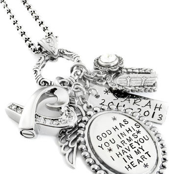 Personalized Engraved Necklace, Quote of your choice