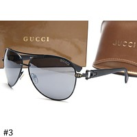 GUCCI 2018 new aviator-style driving frog mirror sunglasses F-ZXJ #3
