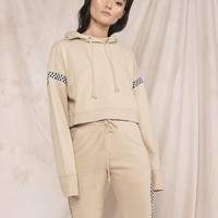 Eggie Tracksuit Cropped Hoodie Pullover